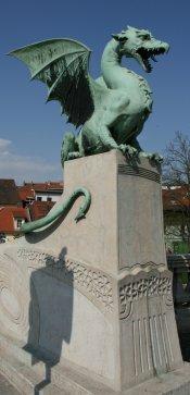Pont des dragons à Ljubljana